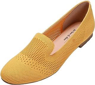 Women's Flyknit Fashion Breathable Knit Flat Shoes