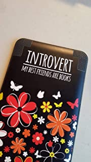 Introvert e-Reader Decal - Book Lover Vinyl Laptop Sticker- Introvert MacBook Decal - Kindle Decal - Funny Vinyl Decal for car