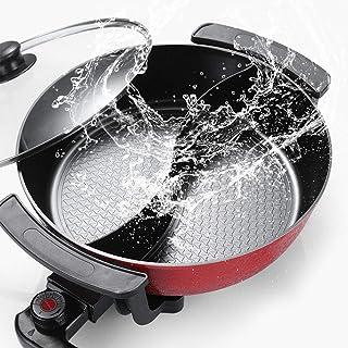 WYING 6L Grande capacité intérieure Hot Pot de Friction, Barbecue électrique, cuisinière électrique multifonctionnelle ant...