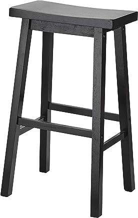 PJ Wood 29-Inch Saddle Seat Counter Stool - Black