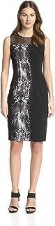 Dakota Women's Snake-Print Sheath Dress Black Size 4