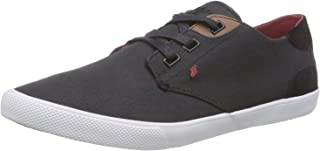 Fresh Box Boxfresh Stern Black Red Waxed Canvas Mens Trainers Shoes