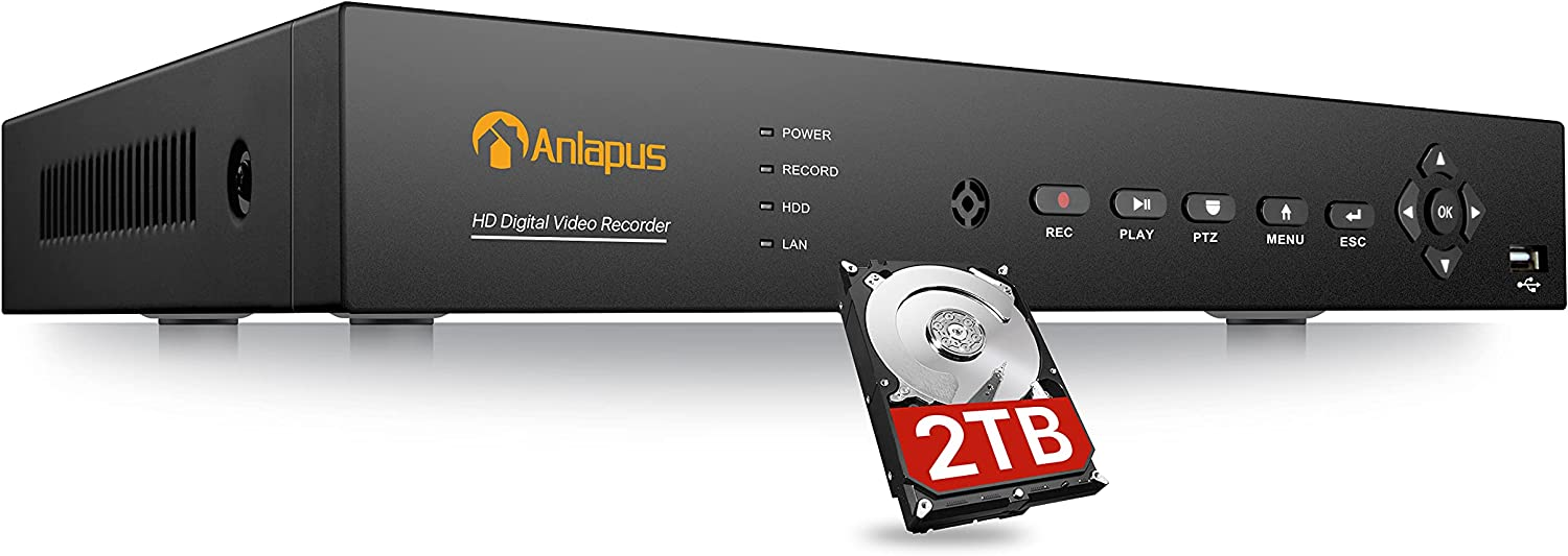 Anlapus 5MP Lite H.265+ 16 Channel 4-in-1 Rec overseas Max 65% OFF Video DVR Security
