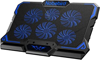 Refroidisseurs pour Ordinateur Portable, 6 Ventilateurs Puissants Super Silencieux, Hauteur et Vitesse du Vent réglables a...