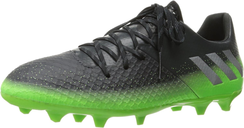 Adidas Performance Men's Messi 16.2 FG Soccer schuhe,Dark grau Metallic Silber Neon Grün,10.5 M US