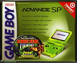Game Boy Advance SP Lime Green System with Donkey Kong Country