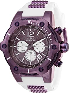 Invicta Men's Bolt Stainless Steel Quartz Watch with Silicone Strap, White, 32 (Model: 28030)