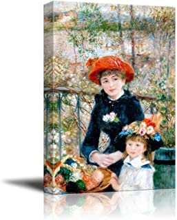 wall26 - Two Sisters (On The Terrace) by Pierre-Auguste Renoir - Canvas Print Wall Art Famous Painting Reproduction - 24