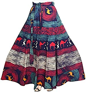 Rajvila Rajasthani Jaipuri Print Skirt for Women Comfortable Skirt for Women (F_W40NT_0008)