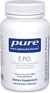 Pure Encapsulations - E.P.O. (Evening Primrose Oil) - Hypoallergenic Dietary Supplement Containing 9% GLA - 100 Softgel Ca...