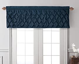 VCNY Home Carmen Puckered Diamond Design Valance With Rod Pocket, Chic and Contemporary Style Window Dressing for Home Déc...