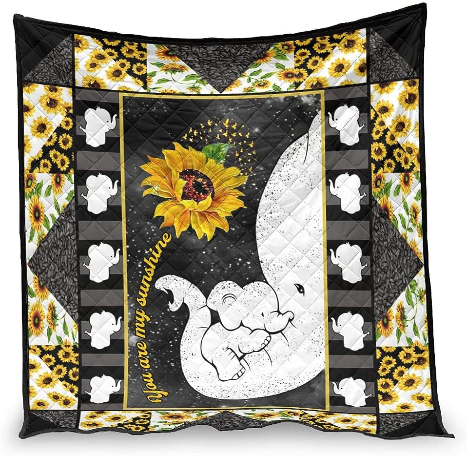 Hiperfay Now free shipping You are My Sunshine Elephant Throw Blanket Bed Warm for Selling and selling