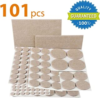 X-PROTECTOR Premium Pack Furniture Pads 101 Piece! Furniture Feet Felt Pads - Your Best Value Pack Wood Floor Protectors. ...