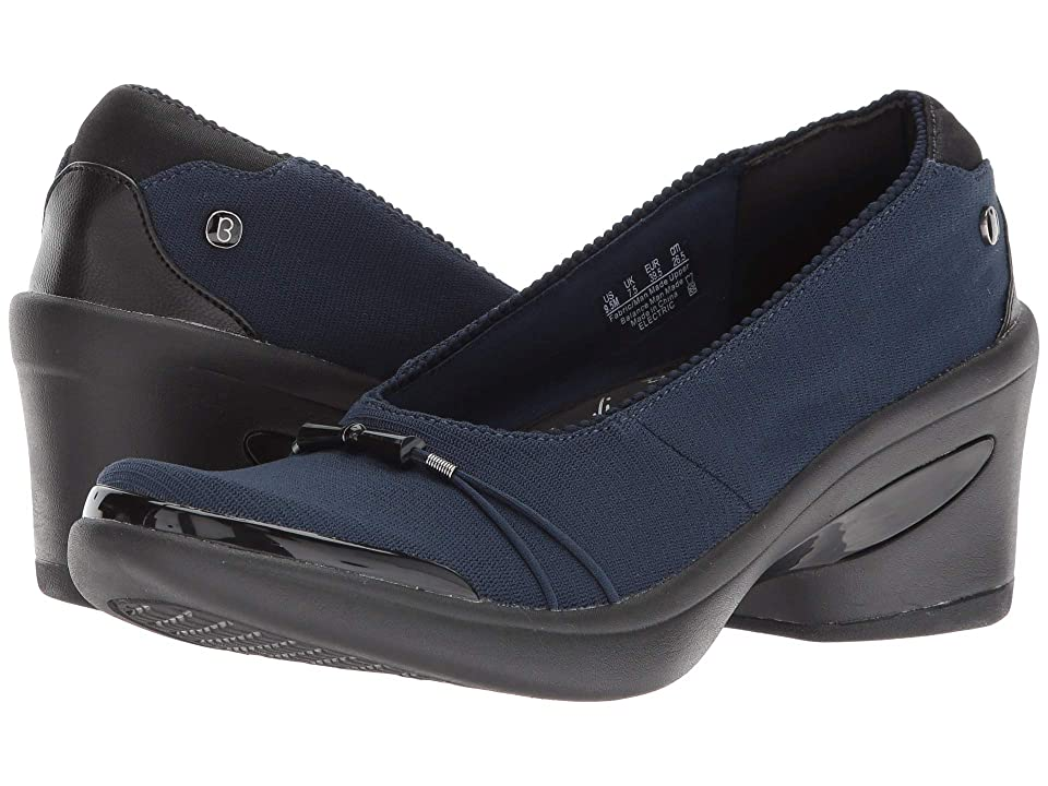 Bzees Electric (Navy Mini Ribbed Knit Fabric) High Heels