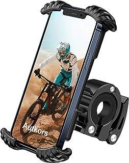 Autkors Fiets telefoonhouder, verstelbare fiets telefoonhouder voor fiets, motorfiets, telefoonhouder, 360 graden draaibaa...