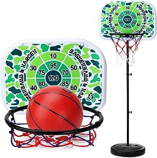 MRKE Canasta Baloncesto Infantil, 170CM Ajustable Portátil Soporte de Baloncesto Aro de Baloncesto con Inflador y Baloncesto