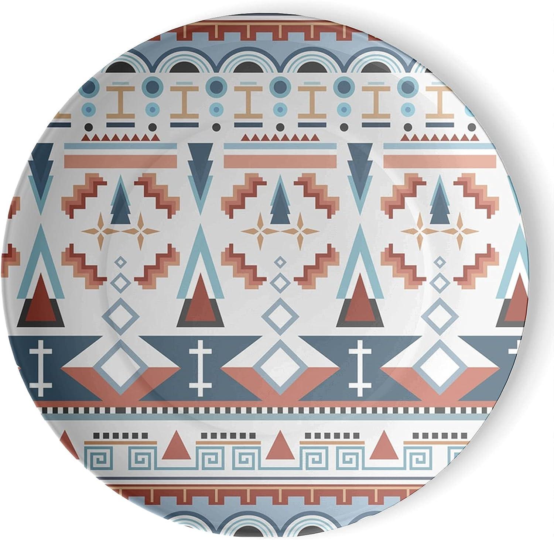 gaeruite Over item handling Bohemia Boho Handmade Max 74% OFF Ceramic Suitabl Plates Printed 3D