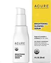 product image for Acure Brightening Glowing Serum   100% Vegan   For A Brighter & Appearance   Argan Oil, Pumpkin & Cranberry - Hydrates, Soothes & Adds Antioxidant Protection   All Skin Types   1 Fl Oz
