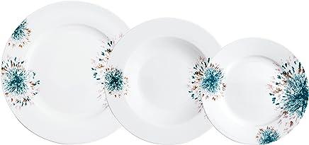 Bidasoa Sira - Vajilla de 18 piezas, porcelana, multicolor