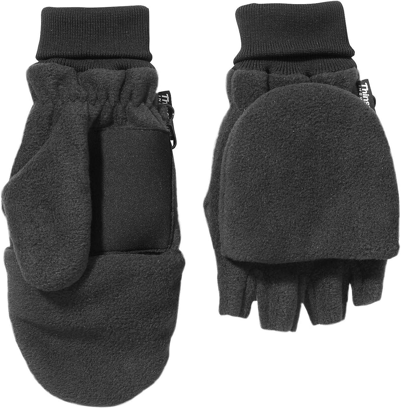 Broner Mens Fleece Flip Top Glove Mitt