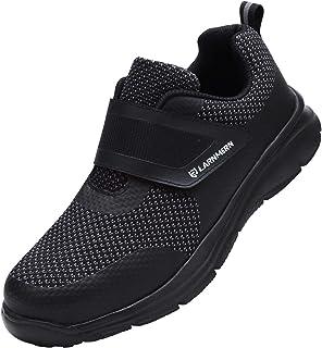 LARNMERN Chaussure de Securité Homme Pointe en Acier Chaussures de Travail pour Baskets de sécurité
