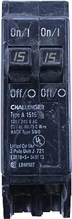 Eaton Challenger A1515 Type A Duplex Twin 2 Pole 15A 120/240V Circuit Breaker