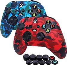 [Pacote com 2] Capa de silicone Jusy para controle Xbox Series X/S, capa antitranspirante, capa protetora durável à prova ...