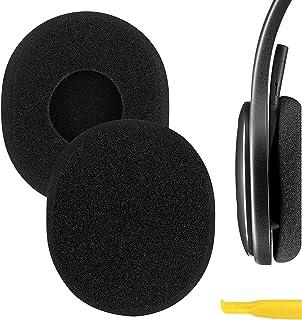 Geekria QuickFit Foam Replacement Ear Pads for Logitech H800 Headphones Earpads, Headset Ear Cushion Repair Parts (Black)
