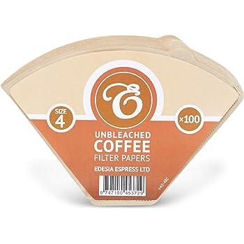 Tamaño 4(1x 4) 4K filtro de café conos de papel, sellado de fábrica-paquete de 100