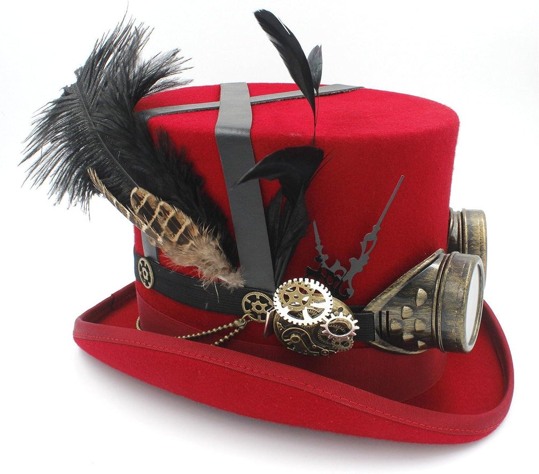 mejor vendido HHF Caps Caps Caps y Sombreos Para mujeres hombres sombreros Sombrero Steampunk gafas, gorro de lana bricolaje Fedora Steampunk (Color   2, Talla   55CM)  estar en gran demanda