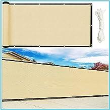 PENGFEI schaduwdoek Sunblock schaduwnet, schaduwen geventileerd privacyschild voor terrasdakhek zonneluifel, 98% UV-besche...