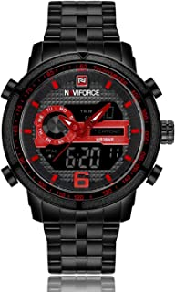 Naviforce Casual Watch For Unisex Analog-Digital Metal - NF 9119
