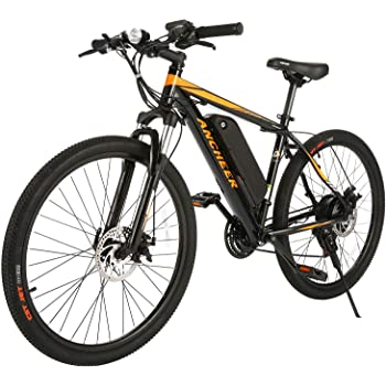 ANCHEER Electric Bike Electric Mountain Bike 350W Ebike 26'' Electric Bicycle, 20MPH Adults Ebike with Removable 7.8/10.4Ah Battery, Professional 21 Speed Gears(4-12days Shipping)