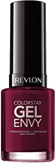 Revlon ColorStay Gel Envy Longwear Nail Polish, with Built-in Base Coat & Glossy Shine Finish, in Red/Coral, 600 Queen of ...