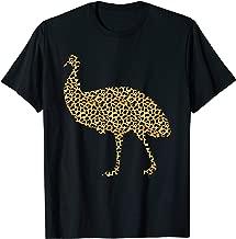 Emu Leopard Print Ostrich Bird Animal Lover Women Gift T-Shirt