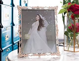 WorldWide Selection Home - Metal Photo Frame/Picture Frame, 4 x 6 inch, Real Clear Glass Front Cover, Vintage European Retro Style, Tabletop Horizontally or Vertically