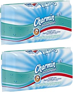 Charmin freshmates flushable 80 sheets 2pack