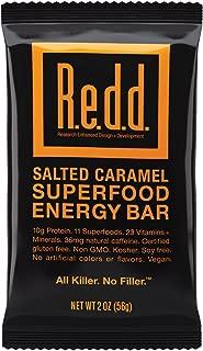 Redd Gluten Free Vegan Superfood Energy Bar, Salted Caramel, 2 Ounce