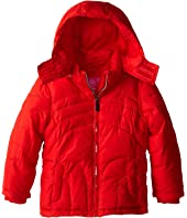 Weatherproof Kids - Bubble Jacket with Rainbow Stitch Quilt (Little Kids)