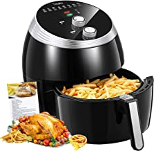 Air Fryer, Tidylife 6.3QT Large Air Fryer, 1700W Oilless XL Oven Cooker, Smart Time and Temperature Control, 8 Cooking Preset, 180-400℉ Hot Air Fryer with Non-stick Basket, Auto Shut Off, 50+ Recipes