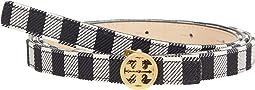 Gingham Skinny Logo Belt