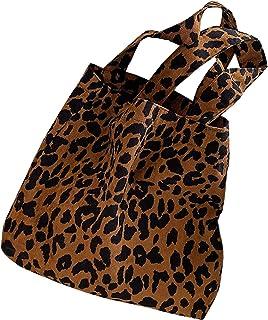 Cord-Umhängetasche,Damen-Umhängetaschen mit Zebradruck,wiederverwendbare Einkaufstasche mit Leopardenmuster,Handtaschen-Ha...