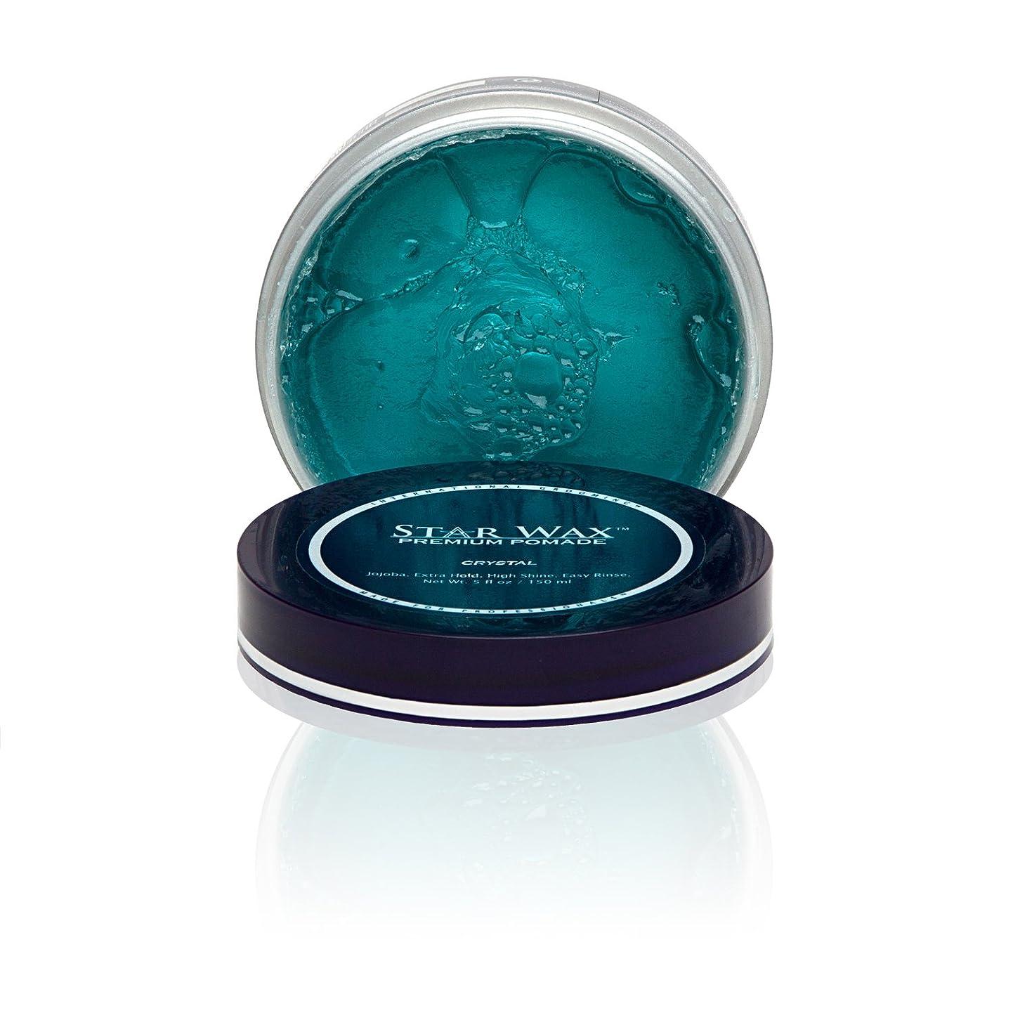 ブリリアント詳細に模索Star Wax | Premium Pomade, Crystal(スターワックスプレミアム ポマード「クリスタル」)?Star Pro Line(スタープロライン)製?5(液量)オンス/150ml