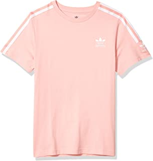 adidas Originals Boy's New Icon T-Shirt, Glory Pink/White, M