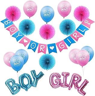 Wartoon Deco Bapt/ême B/éb/é Fille Its A Girl Papier Banni/ère Banderole et 12 Paquets Pompon Papier de Soie Boules de Fleur pour Bapt/ême F/ête de Naissance Anniversaire