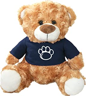 Mascot Factory Penn State Nittany Lions Teddy Bear with Blue T Shirt with Penn State Logo 9 Inches Tall