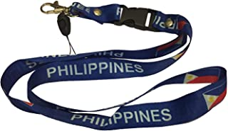Lanyard Neck Strap Necklace Key Chain Card Badge Holder – Asia and Africa (1-Pack, Country: Philippines)