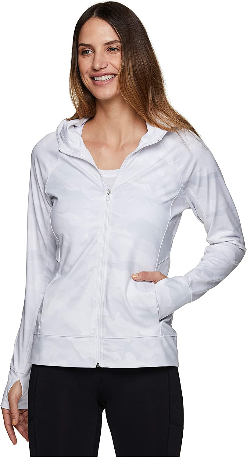 RBX Active Women's Athletic Breathable Lightweight Zip Up Running Jacket with Pockets : Sports & Outdoors