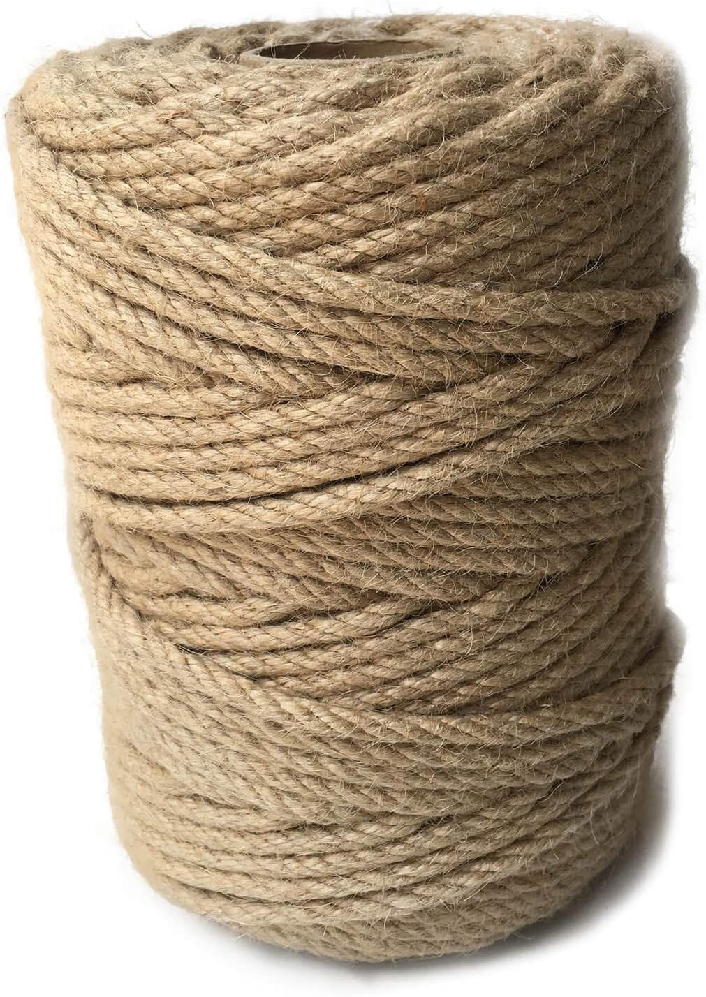 ILIKEEC 328 Feet Jute Rope service 6mm S Natural 4-Ply Thick 55% OFF Twine
