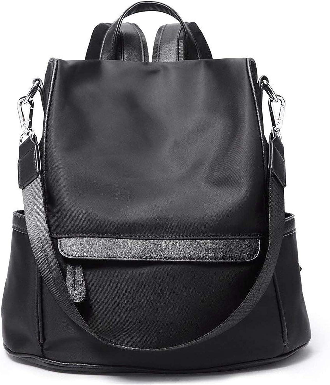 Women Backpack Purse Nylon Fashion Casual Congreenible Shoulder Bag Lightweight Water Resistant School Backpack,Black